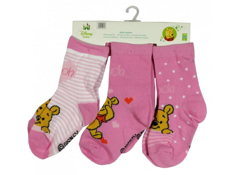Winnie Pooh sokid (3-pakk)